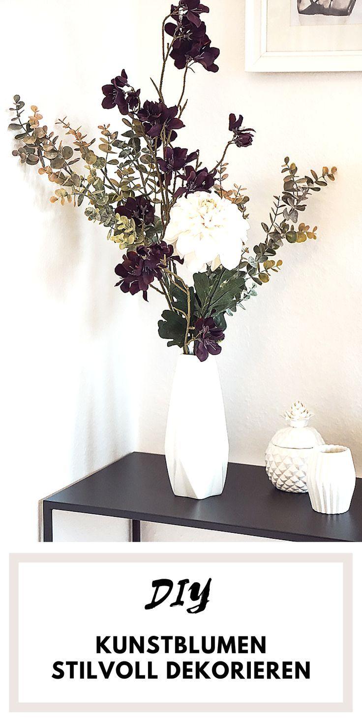 Kunstblumen Stilvoll Dekorieren Kunstblumen Deko Dekorieren