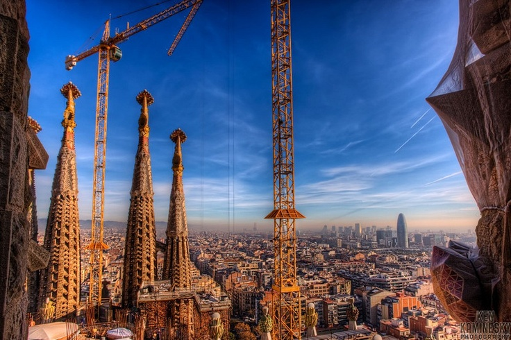 View from the spire of Sagrada Familia