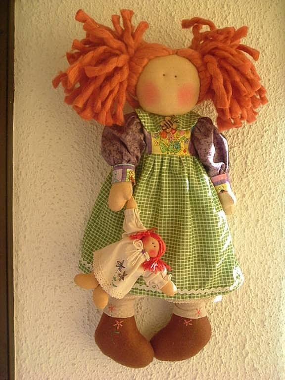 Muñecas country o muñecas de tela | Aprender manualidades es facilisimo.com