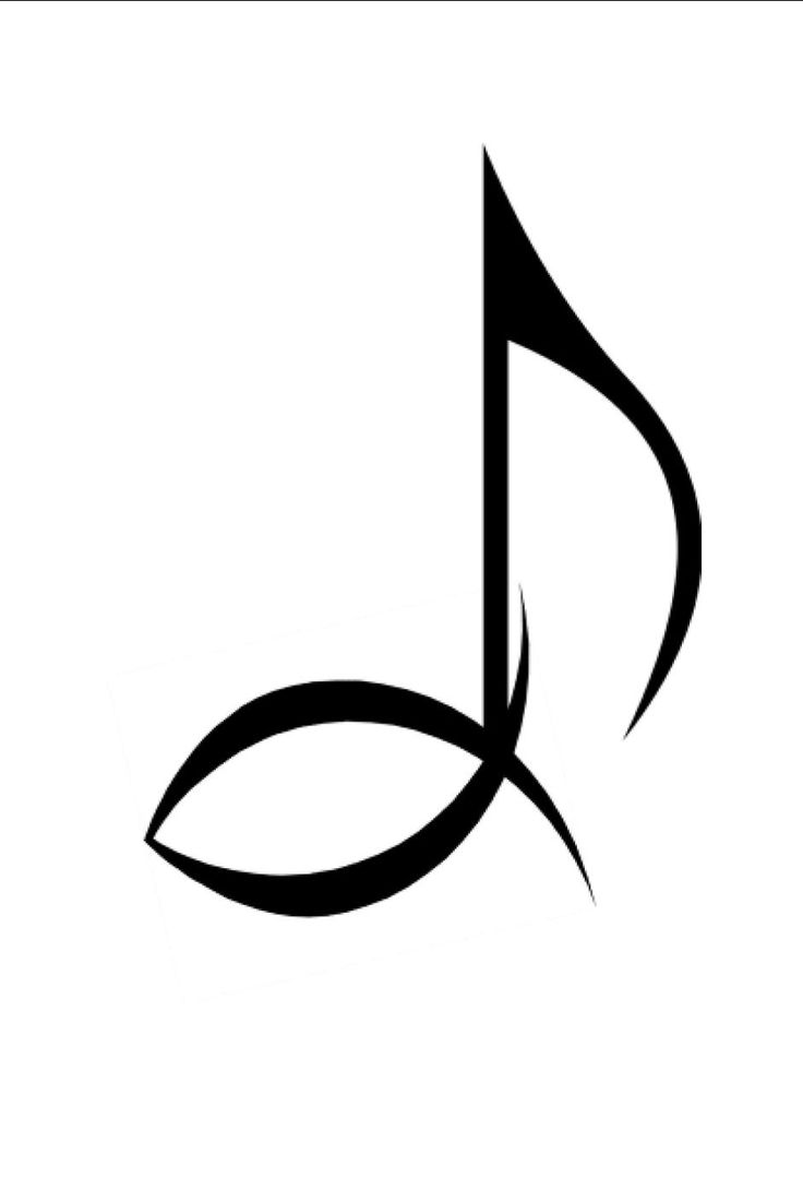 music notes christian | ... musical eighth note and ancient christian symbol ichthys