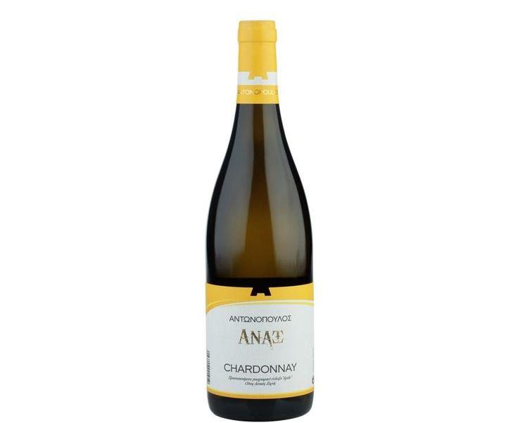 Άναξ λευκός ξηρός παλαιωμένος (Chardonnay 100%), Αμπελώνες Αντωνόπουλου, Πελοπόννησος.