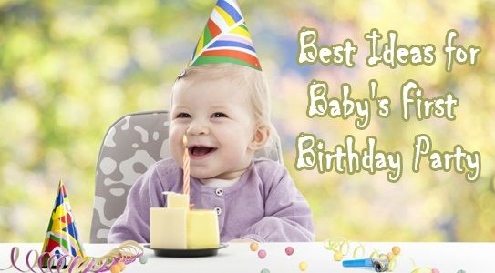 Best ideas for the First birthday of your young baby. List of unique ideas for decorations, cakes, themes and invitations to make the birthday celebrations more