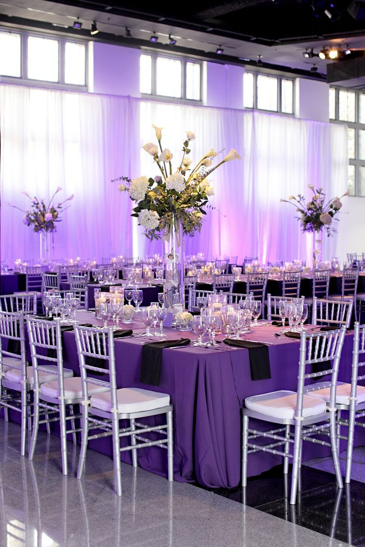 2015 08 decorating with plum and damson - Purple And Silver Wedding Reception Tidbits On Weddings By Destination Planner Designer Kelly Mcwilliams