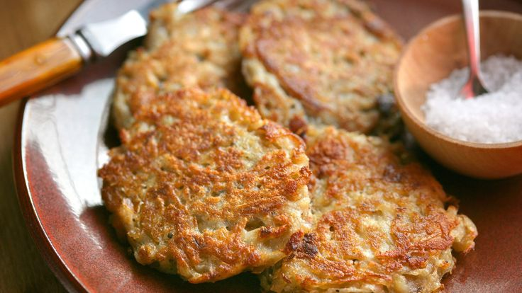 This recipe is for a classic, unadorned latke; the kind your Bubbe used to make No kohlrabi or cumin here Serve them hot and make more than you think you need