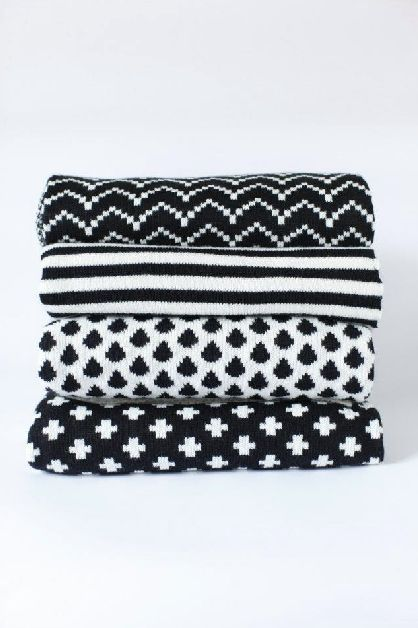 Scandinavian inspirations - I love textures and blankets and these are best. Want them all (also black and white is always gorgeous)