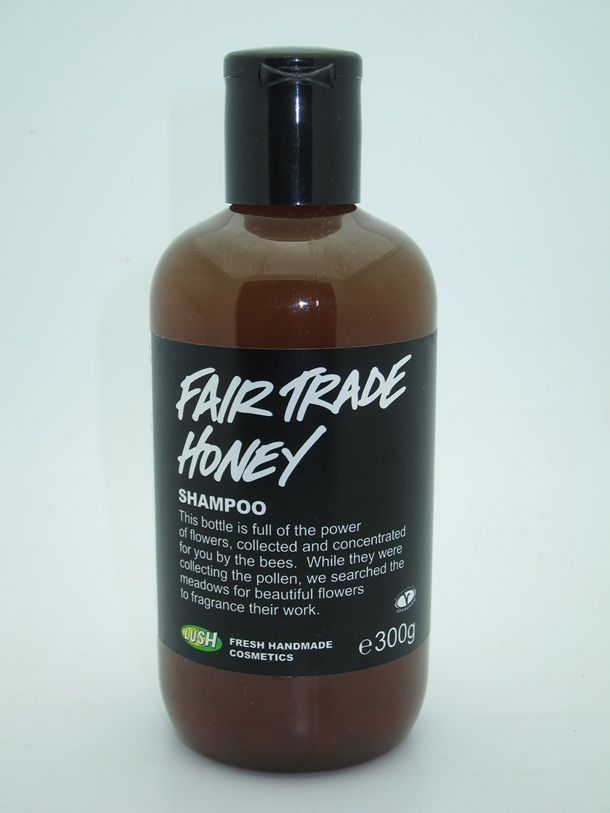 Lush Fair Trade Honey Shampoo- it's hard for me to find fair trade beauty products! Honey is great for hair! Can't wait to try this!