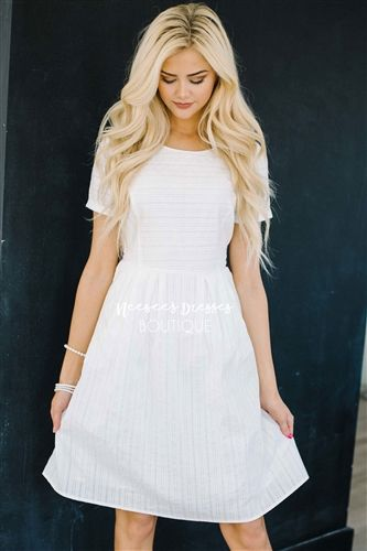White Cotton Sundress, Modest Dress Bridesmaids Dress, Church Dresses, dresses for church, modest bridesmaids dresses, trendy modest dresses, modest womens clothing, affordable boutique dresses, cute modest dresses, mikarose, best modest boutique