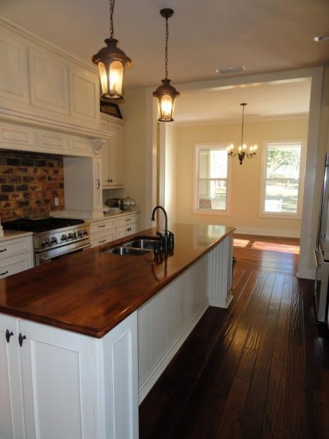 This Is What I Envision, Dark Floors, Dark Counters And White Ish Cabinets.  Find This Pin And More On Butcher Block Countertops ...