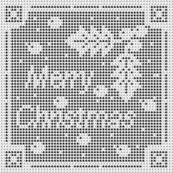 Ravelry: Filet Crochet Christmas Chart.  Free pattern by Michelle Ryan. [crochet035001 by nezumiworld, via Flickr]