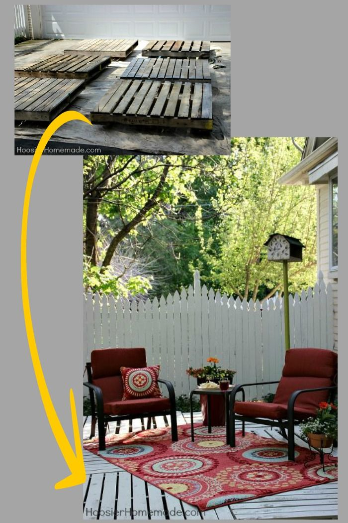 How to build a wood pallet deck ~ save time and money with this great info and tutorial