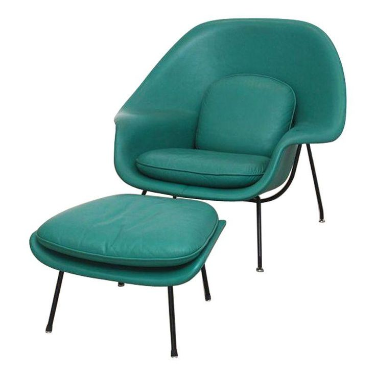 This Is A Restored Vintage Eero Saarinen Womb Chair U0026 Ottoman, Made  Exclusively For Knoll