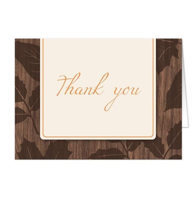 """I wanted to share with you these Modern Rustic Autumn Wood Leaves Thank You Cards? Do you like them?  