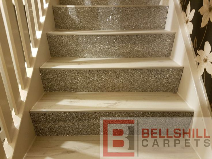 Glitter Stairs with White Laminate