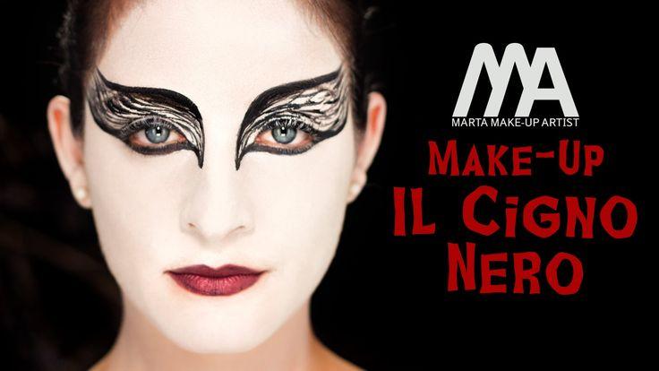 Halloween Black Swan Make-up Tutorial #halloween #makeup #tutorial