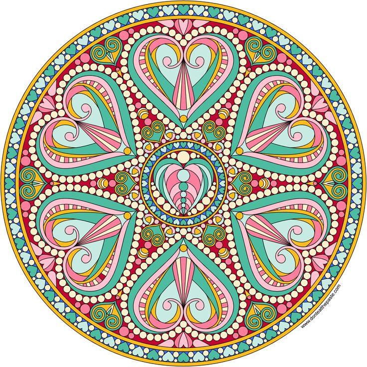 2016 Valentine Mandala to color
