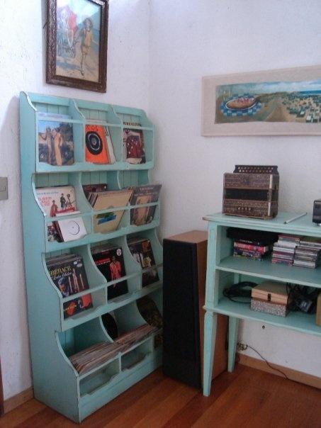 Mueble especial para guardar los discos