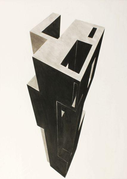 Gijs van Noort, Toren, Mixed media 2014 150 x 120 cm