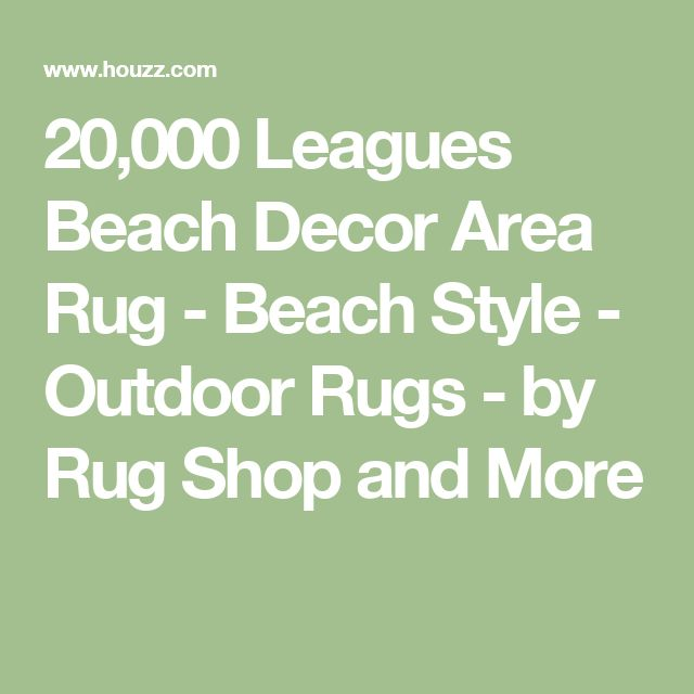20,000 Leagues Beach Decor Area Rug - Beach Style - Outdoor Rugs - by Rug Shop and More