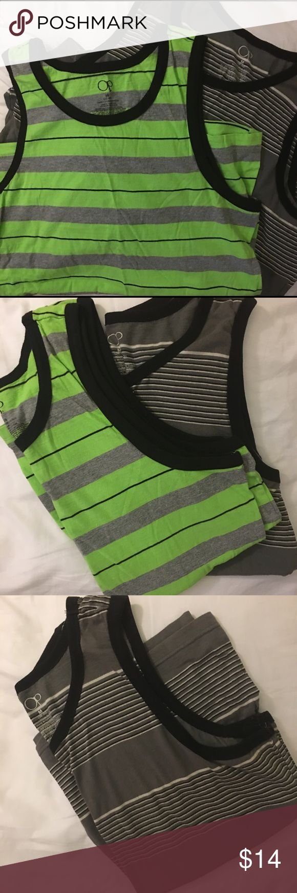 Pair of Men's Tanks - NEW NWOT! 2 men's tanks (38-40) M...PERFECT for that trip to the beach, layering, or lounging in.   M Op Shirts Tank Tops