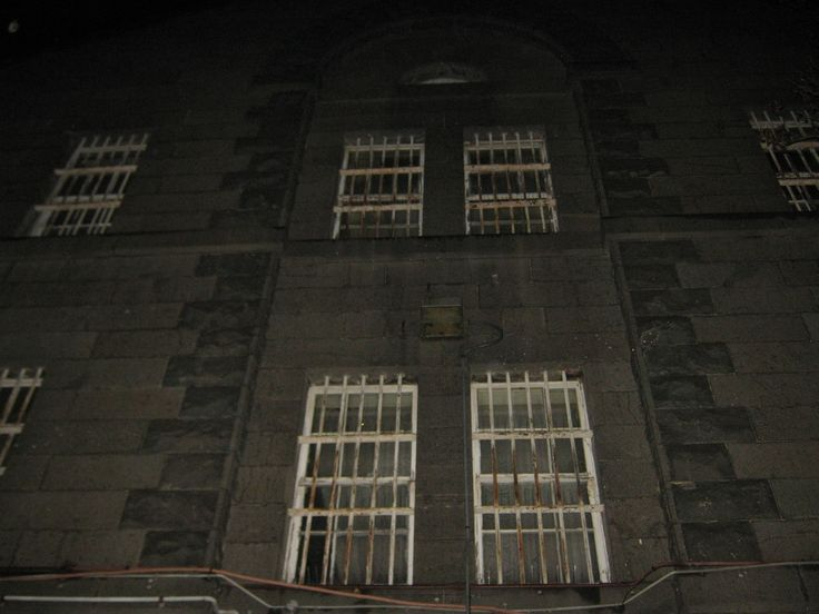 Courtyard created by the main building and main gates, Old Geelong Gaol, 21st June, 2014. Image by D Roach