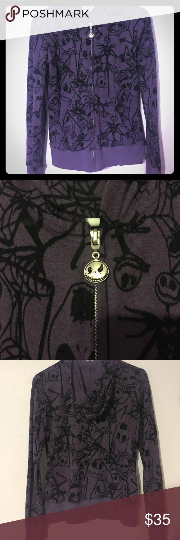 Rare Jack Skellington Hoodie! Super soft and spooky Jack Skellington Nightmare Before Christmas hoodie! Perfect condition! This hoodie cannot be bought at Disneyland anymore. Disney Tops Sweatshirts & Hoodies