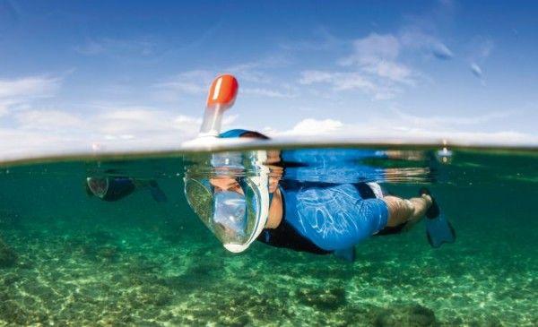 Un masque de plongée / snorkeling avec une vision XXL | Topito