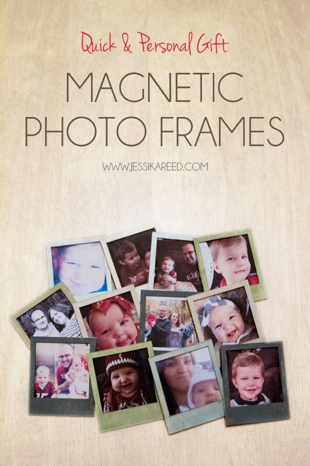 Last minute quick, cheap and personal Christmas gift idea. Magnetic Photo Frames