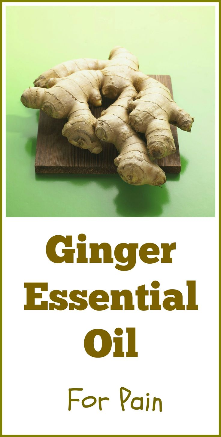 Ginger essential oil is often used for pain, either by itself or mixed with other oils in a pain relief recipe. This is one of the aromatics I use myself for my chronic nerve inflammation.