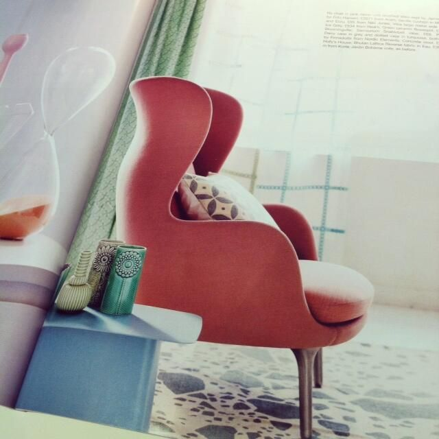 Web Image Gallery Seville Cushion in mist grey styled with Jaime Hayon for Fritz Hansen us Ro chair Kitchens Bedrooms Bathrooms Magazine May