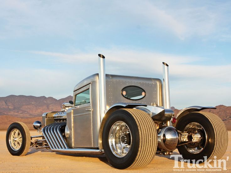 Peterbilt Hot Rod Truck Left Rear Angle Photo 6