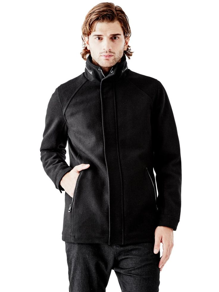 William Wool-Blend Peacoat