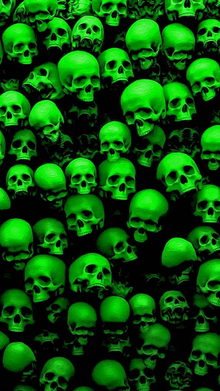 Green Skulls Wallpaper By Dman7734 14 Free On Zedge Dark Green Aesthetic Skull Wallpaper Green Aesthetic