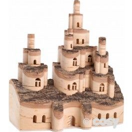 A super idea. This delicately crafted masterpiece of fairy towers with wood is a real dream. When you have finished with it you can simply push the towers down and it transforms into a piece of wood. L:17cm x W:7.5cm x H:6.5cm. Bark may peel. Wood may split.