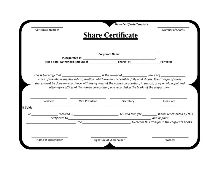 Example Of Share Certificate inventory excel template free download