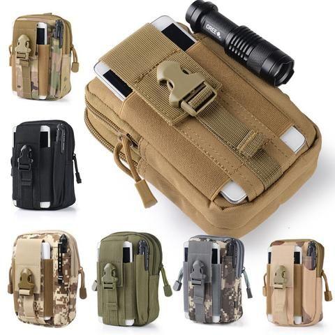 Outdoor Military Type Holster Hip Waist Belt Bag Wallet Pouch Phone Case with Zipper