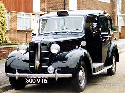 Perhaps the best-remembered cab is the Austin FX3, many thousands of these were built for London service in the 1950s.