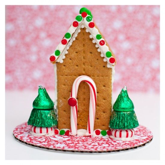Ideas for Gingerbread houses pb cups and kisses for small trees