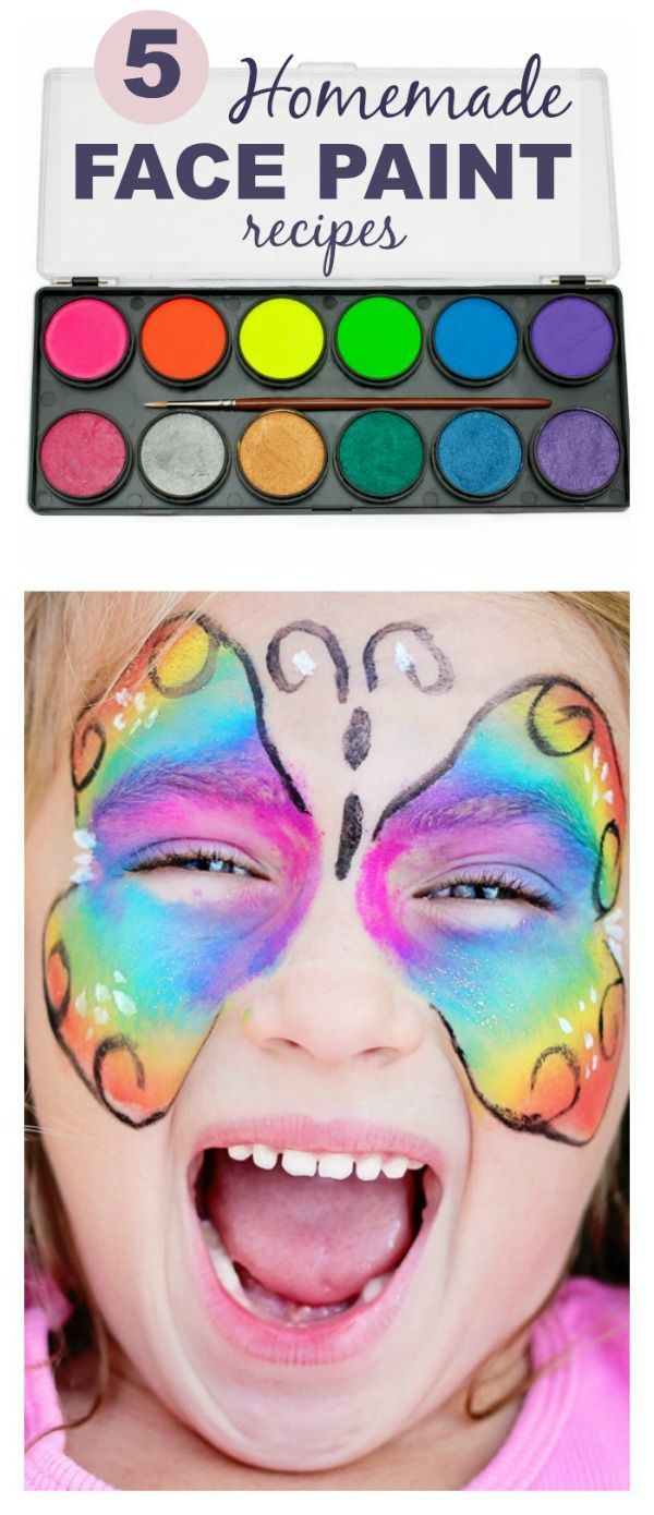 5 Easy Ways To Make Face Paint At Home How Fun! My Kids Love
