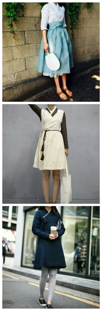 On Facebook, I found these #Casual #Hanbok #LittleBitDifferentStyle Couldn't find brand name, but can it be trend? :)