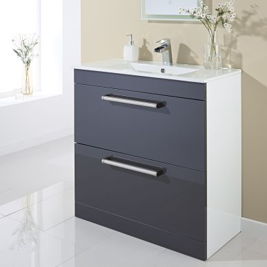59 best vanity units images on pinterest bathroom for Bathroom cabinets 800mm high