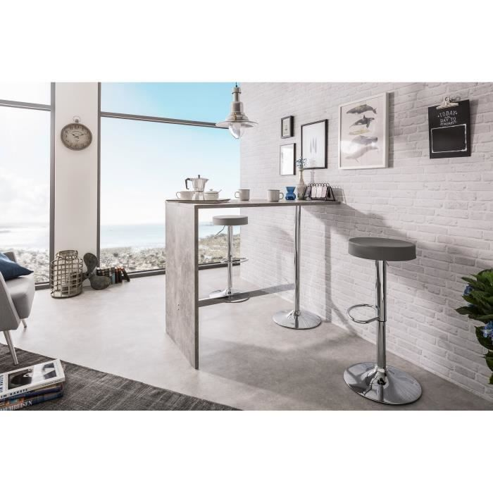 Party Table Bar De 4 A 6 Personnes Style Contemporain Effet Beton