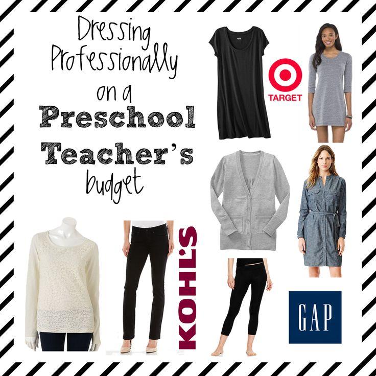 A preschool teacher's professional wardrobe