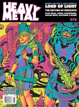 "Heavy Metal #276 features Jack Kirby's ""Lord of Light"" art"