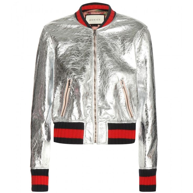 Gucci - Bomber in pelle metallizzata - mytheresa.com
