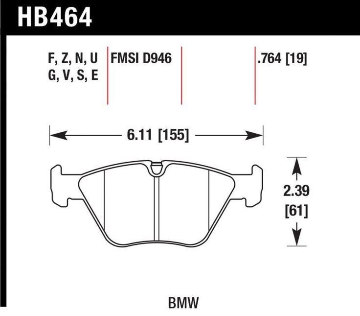 Hawk 2006-2008 BMW Z4/ 2001-2005 BMW 330I/ 2001-2006 BMW 330CI/ 2003-2006 BMW M3/ 2001-2005 BMW 330XI DTC-70 Front Race Brake Pads