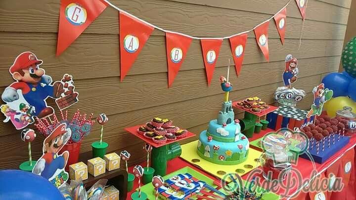 Mesa dulce Super Mario