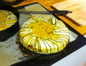 Granen-, gluten- en (koe)melk vrije courgette pompoen taart http://allergeenalternatief.com/