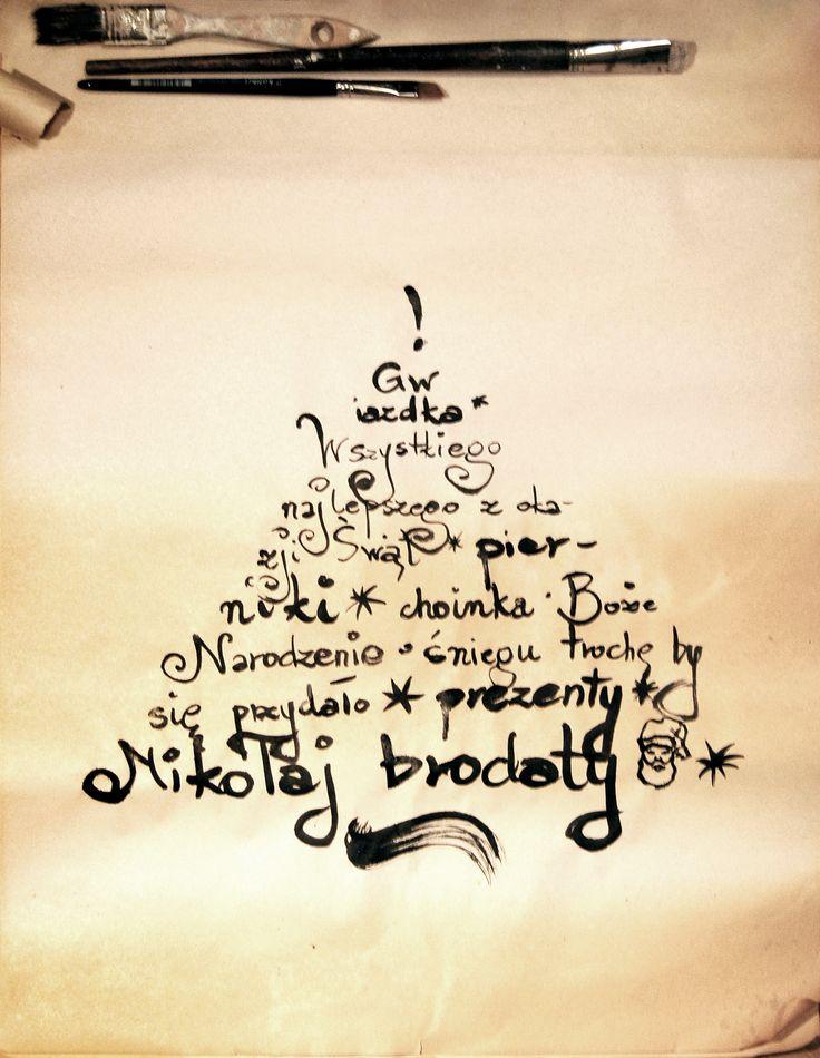 #christmas #choinka #christmastree #typography #typo