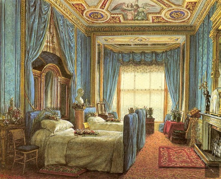 Queen Victoria and Prince Albert's bedroom where the Prince Consort died