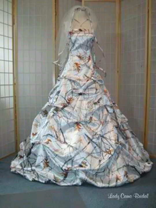 White Wedding Dresses With Camo : Camo wedding dresses on camouflage